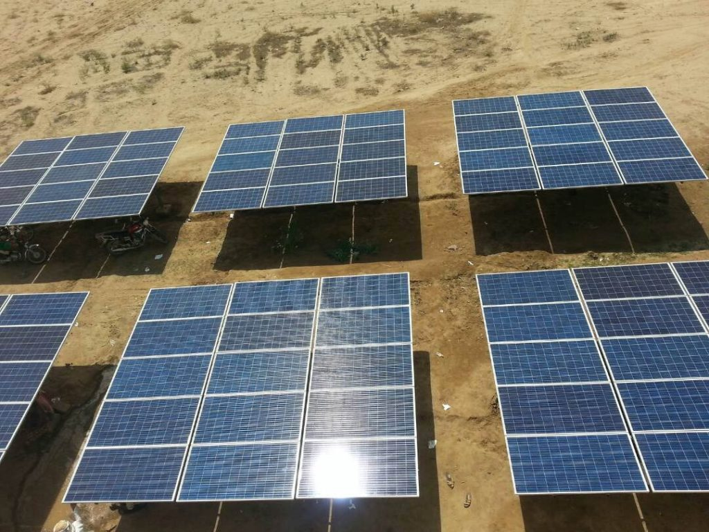 Solar power plant for Agricultural Water Pumping Station