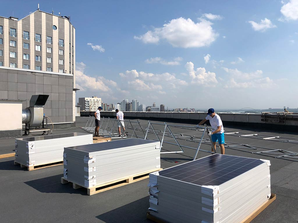 Commercial On-grid Rooftop Solar project for Kronos