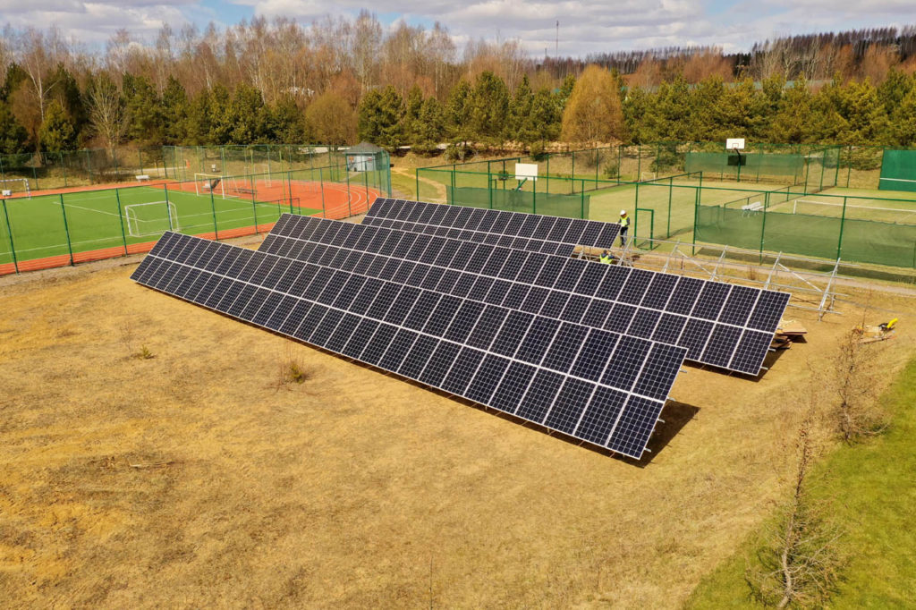 Construction of a solar power station for the hotel complex in Moscow has been completed